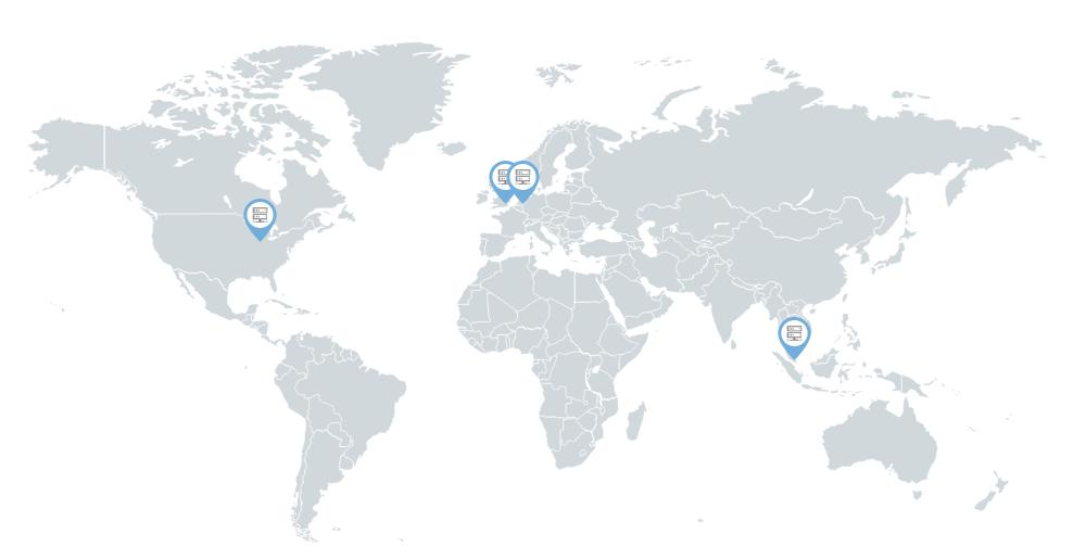 siteground servers map