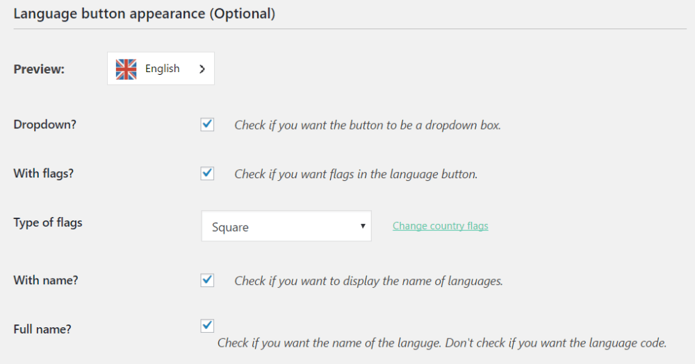 configuring your language switcher button