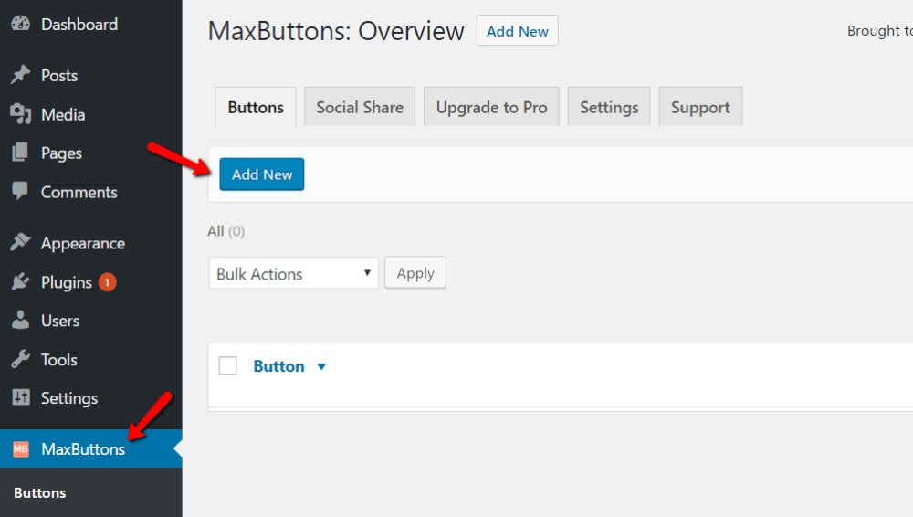 how to add buttons in WordPress with maxbuttons