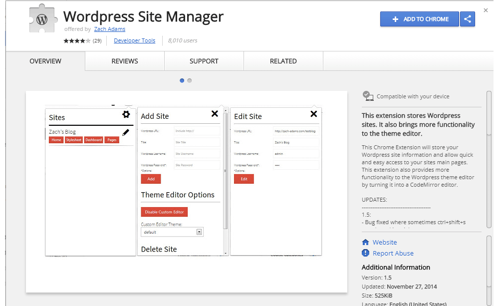 WordPress Site Manager
