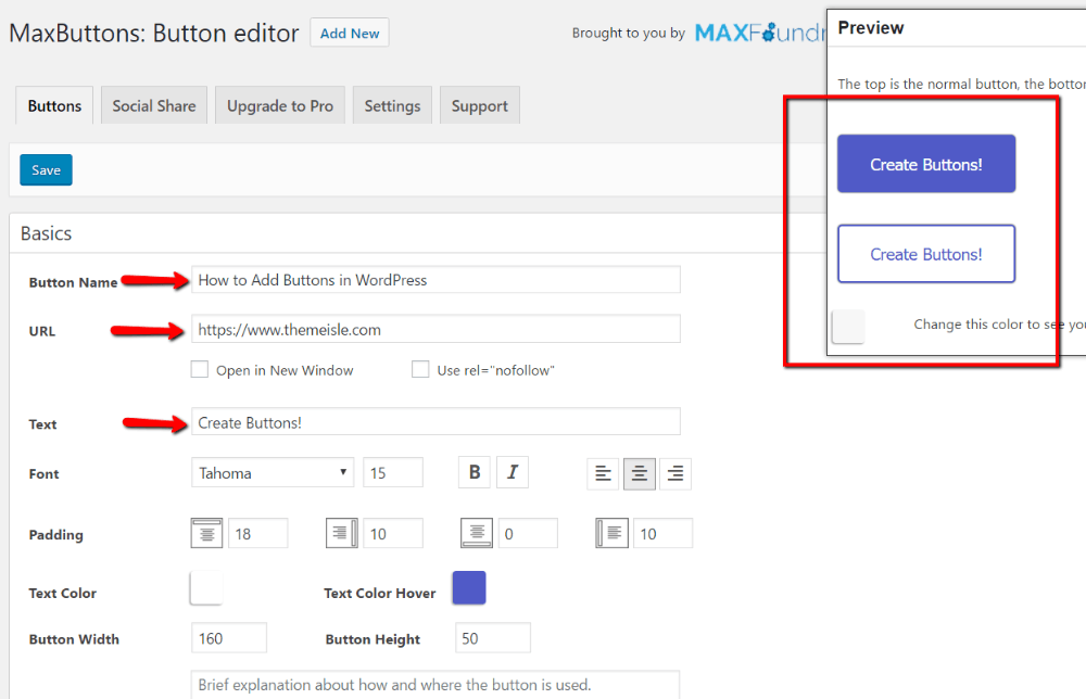 preview button changes in real-time
