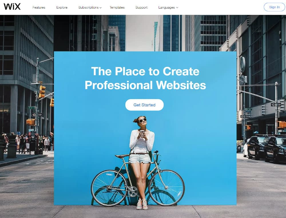 WordPress alternatives - Wix
