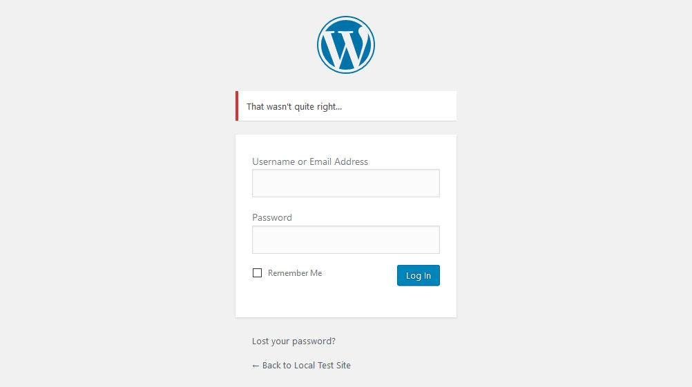 WordPress functions.php modify login error message
