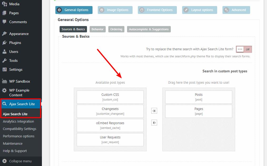 Choose post types