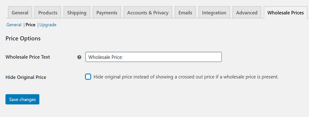 price options - WooCommerce wholesale pricing