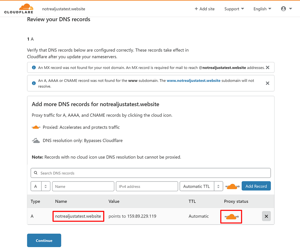 Examiner les enregistrements DNS