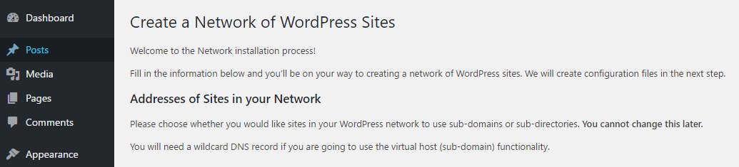 What Is WordPress Multisite: Setting up a Multisite network.