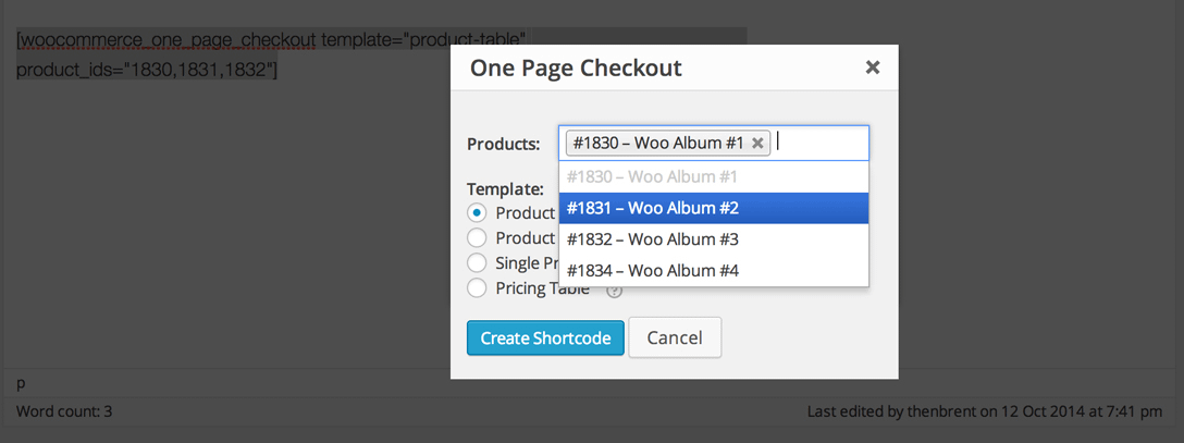 Enabling one-page checkout.