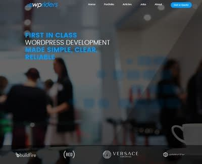 The WPRiders homepage