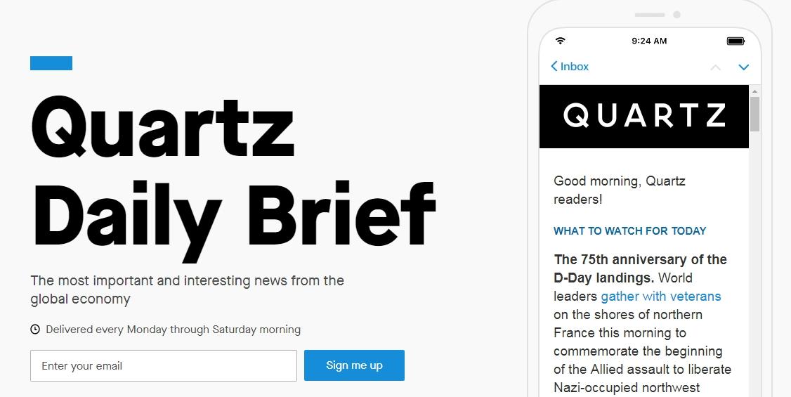 quartz tech newsletter