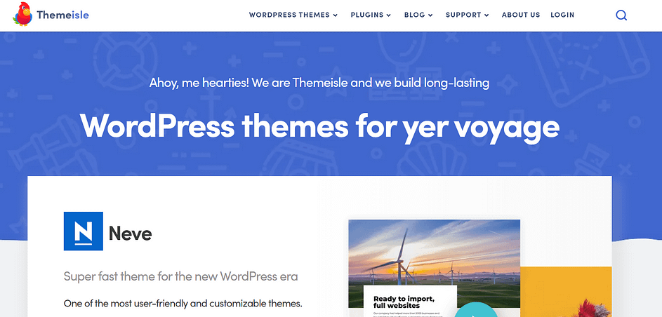 The ThemeIsle website.