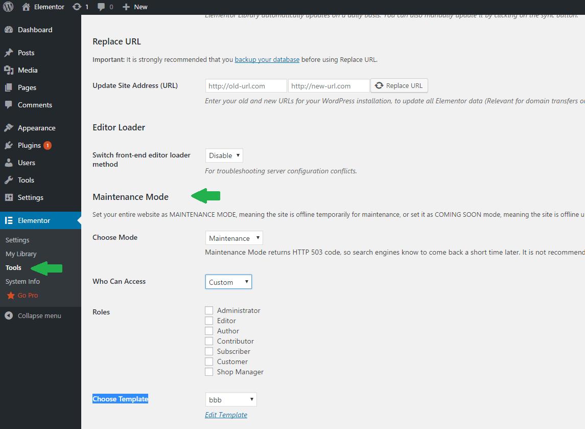 maintenance mode page