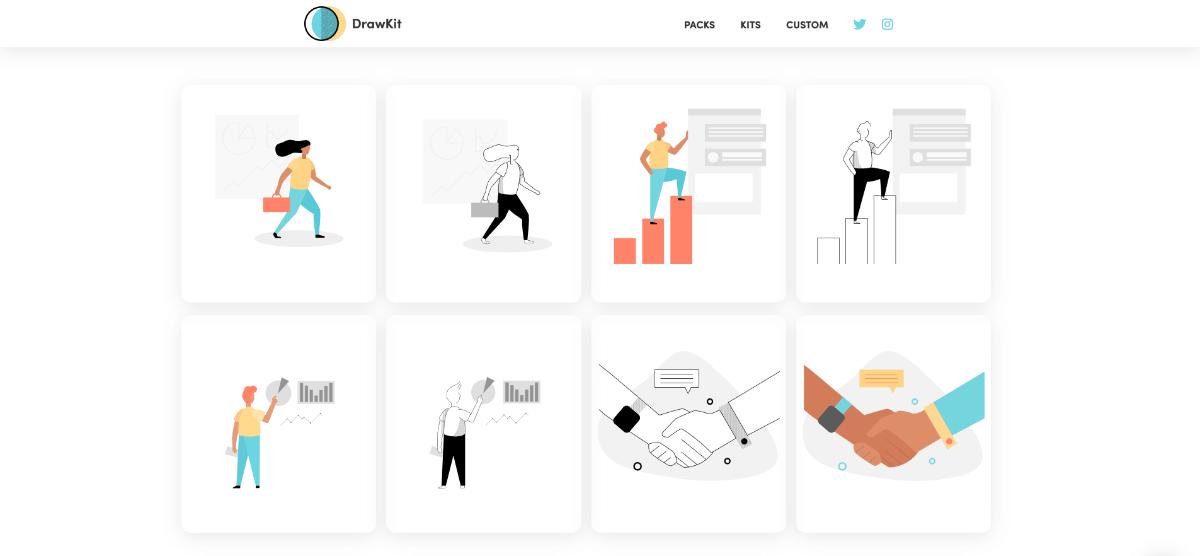 free illustrations for DrawKit