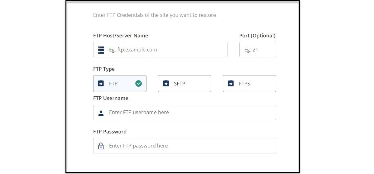 BlogVault FTP Info