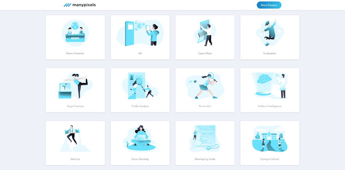 free illustrations from ManyPixels
