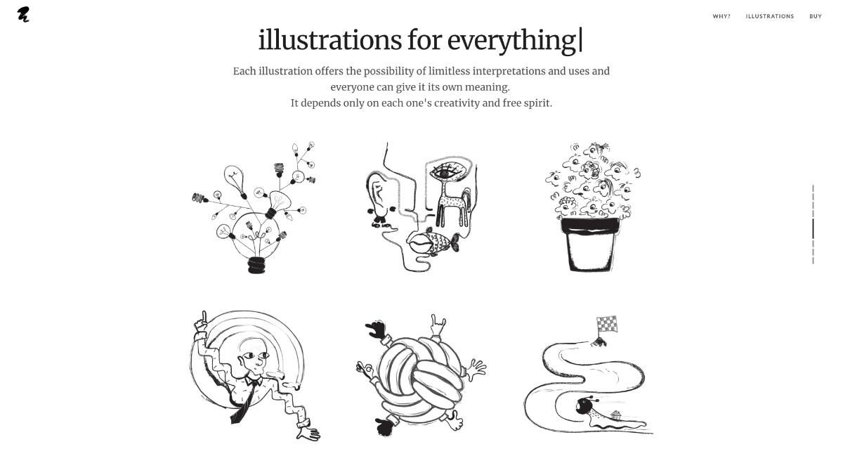 free illustrations from Absurd Design
