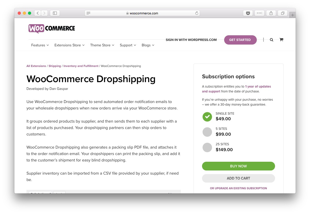 WooCommerce Dropshipping extension