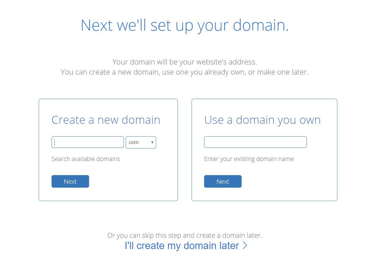 Create your domain name