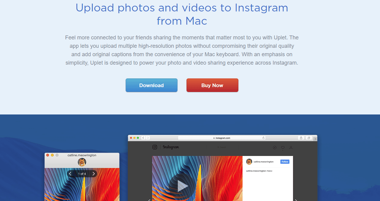 How to post to Instagram from Mac: Uplet Instagram app