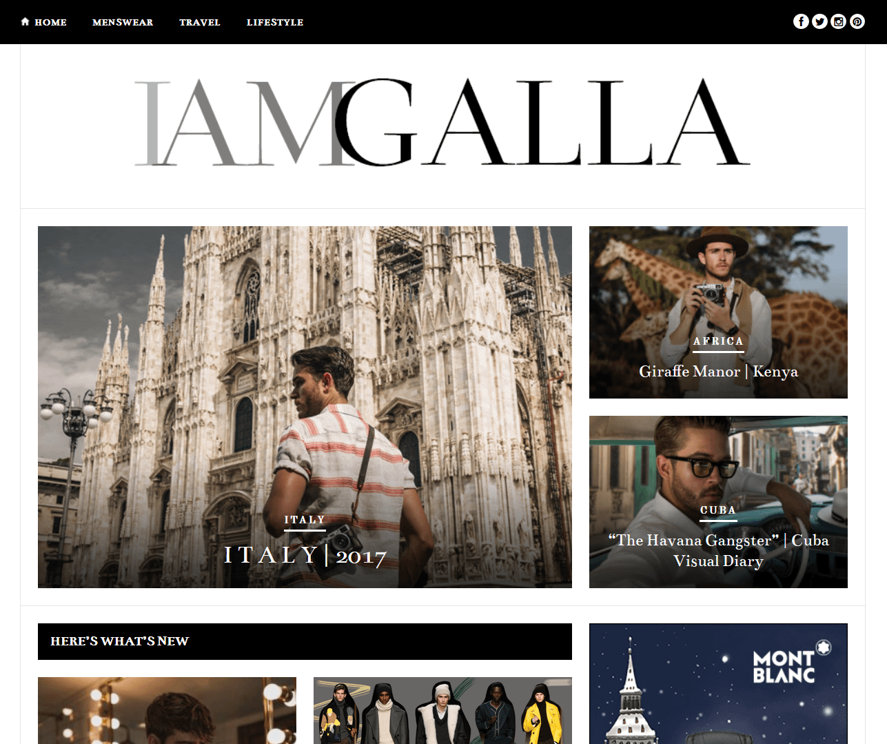 I Am Galla has the perfect lifestyle blog category format