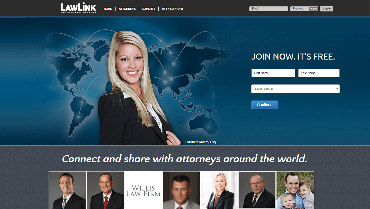 The LawLink social media network.