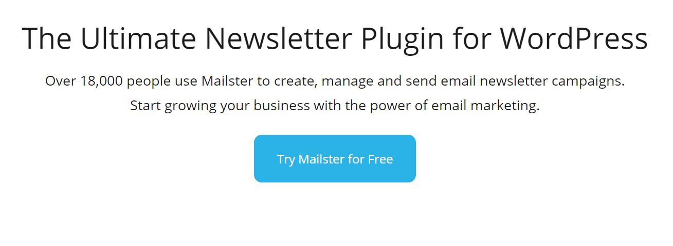 Mailster is one of the best WordPress email marketing plugins