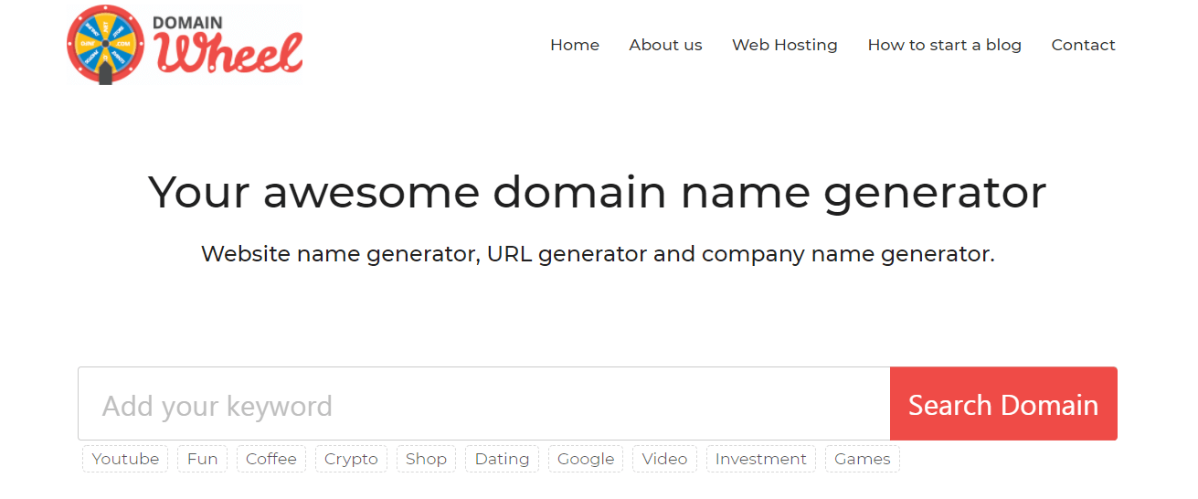 The Domain Wheel website.