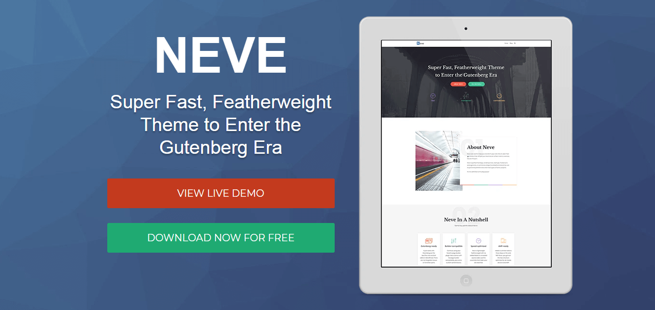 The Neve WordPress theme.