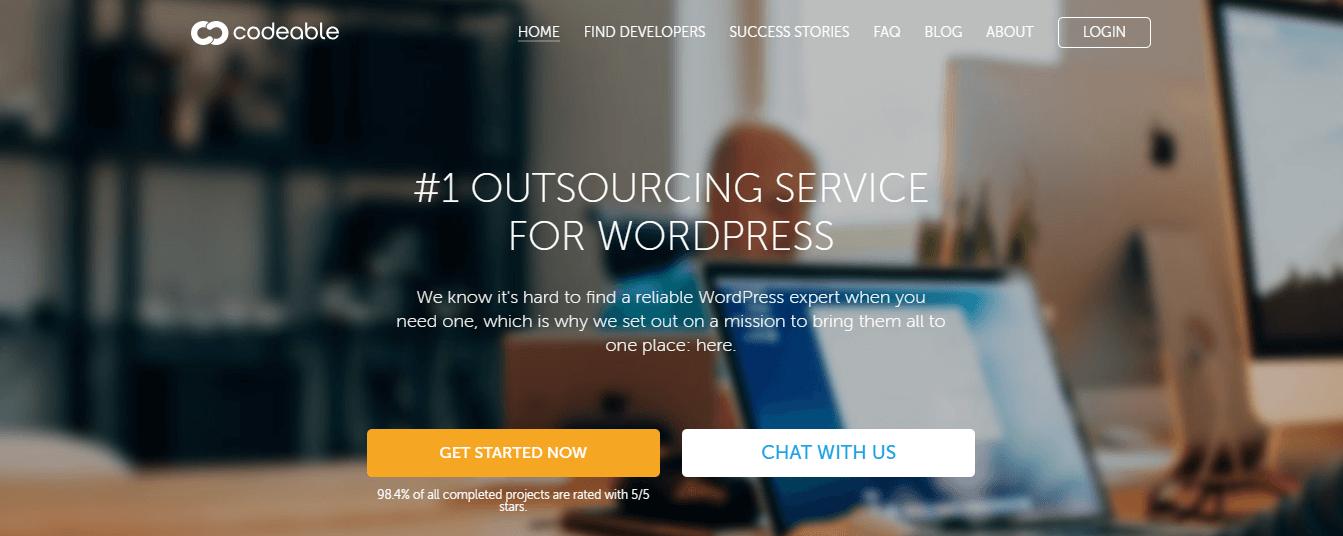 A website where you can hire a WordPress developer.