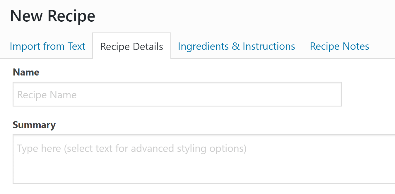 how to add recipes to WordPress with WP Recipe Maker