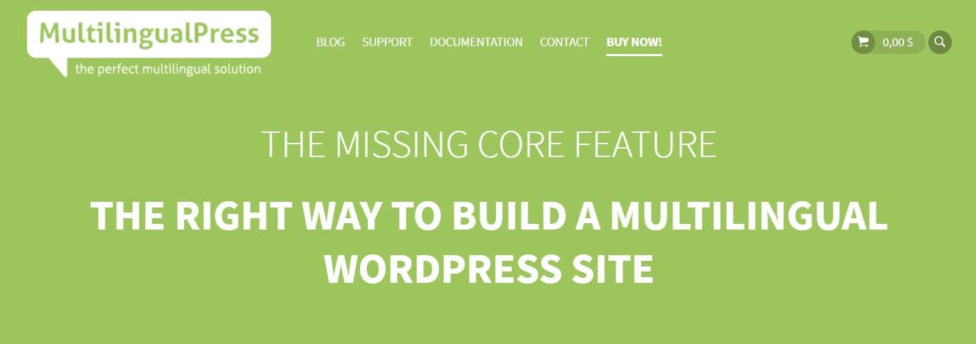 The MultilingualPress WordPress translation plugin