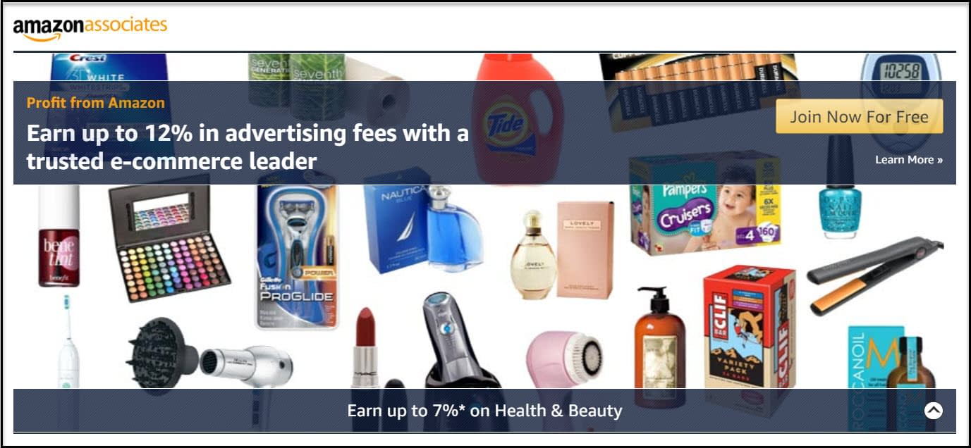 Amazon Associates can help you monetize a beauty blog