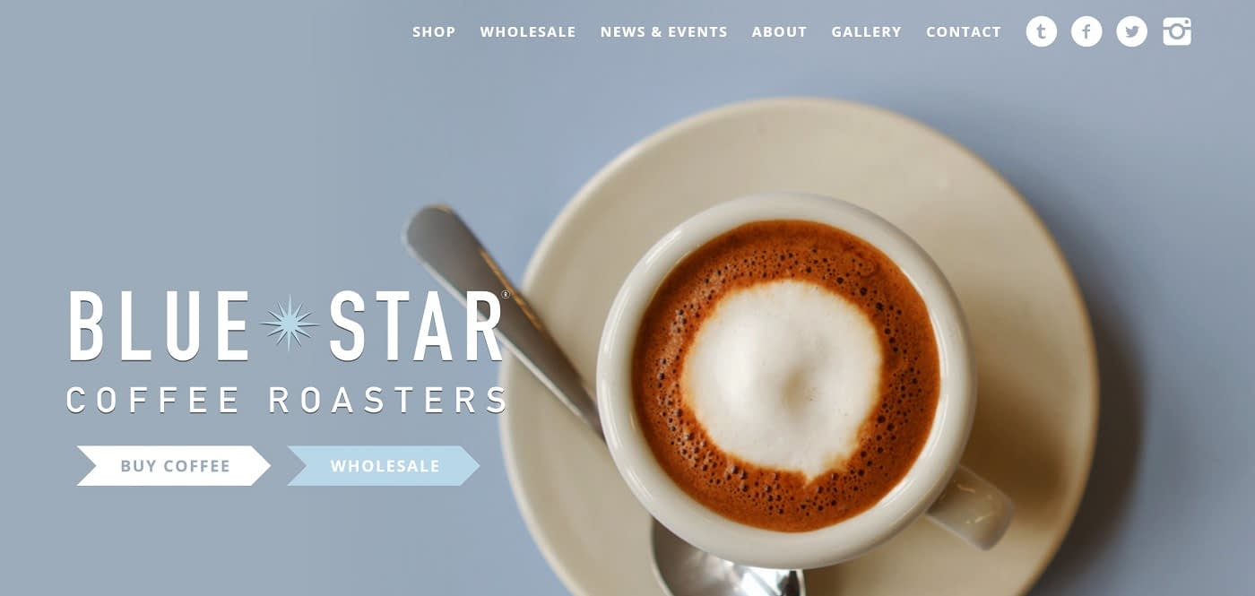 Coffee ecommerce site using WooCommerce