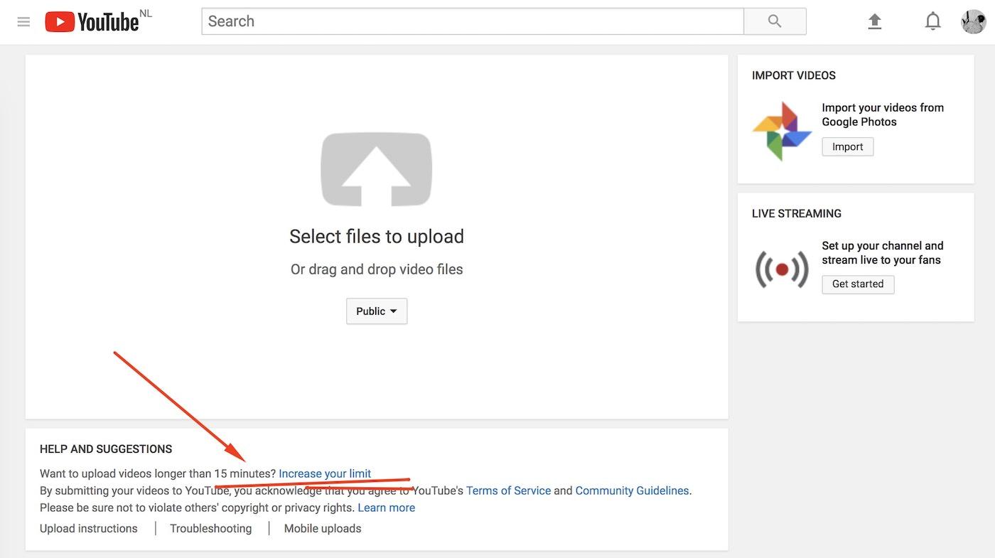 Vimeo vs YouTube limits