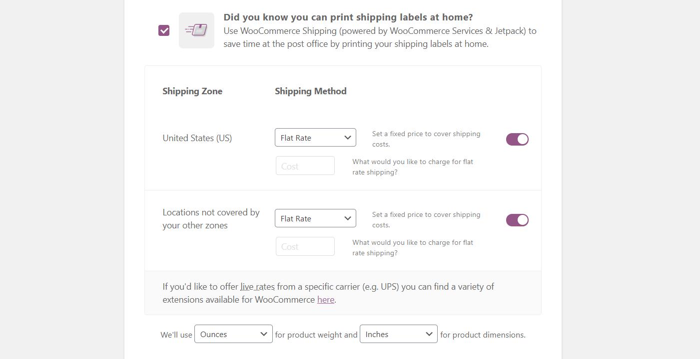Comment configurer l'expédition pour une boutique WooCommerce