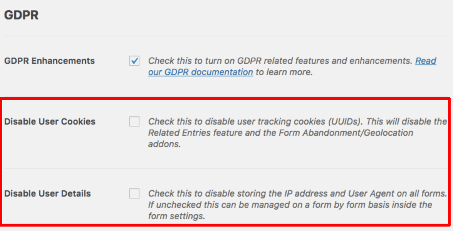 New GDPR Enhancements in WPForms Pro