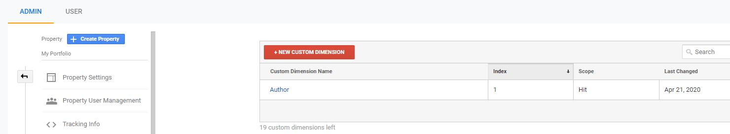 Vérifier le numéro d'index de votre dimension personnalisée.