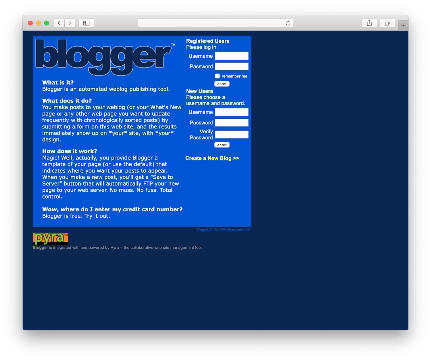 blogger was a blogging platform acquired by Google