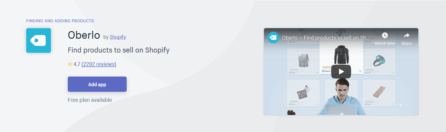 Shopify app for dropshipping