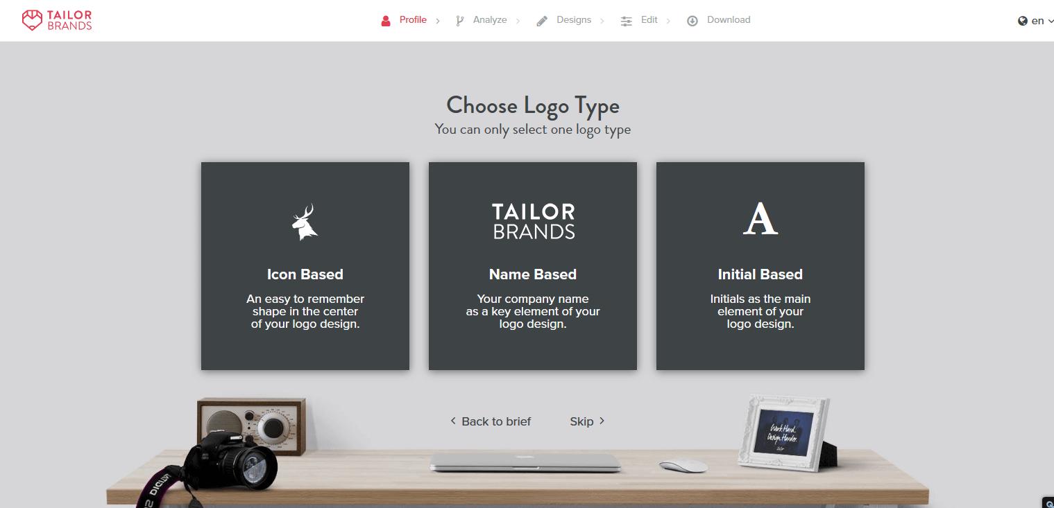tailorbrands logo maker