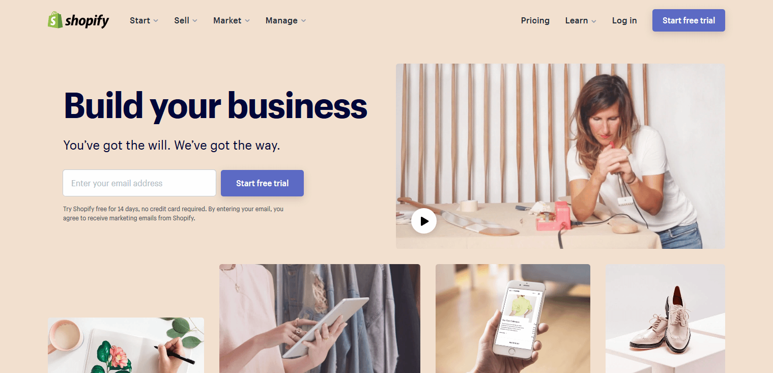 Shopify is a good Wix alternative for eCommerce