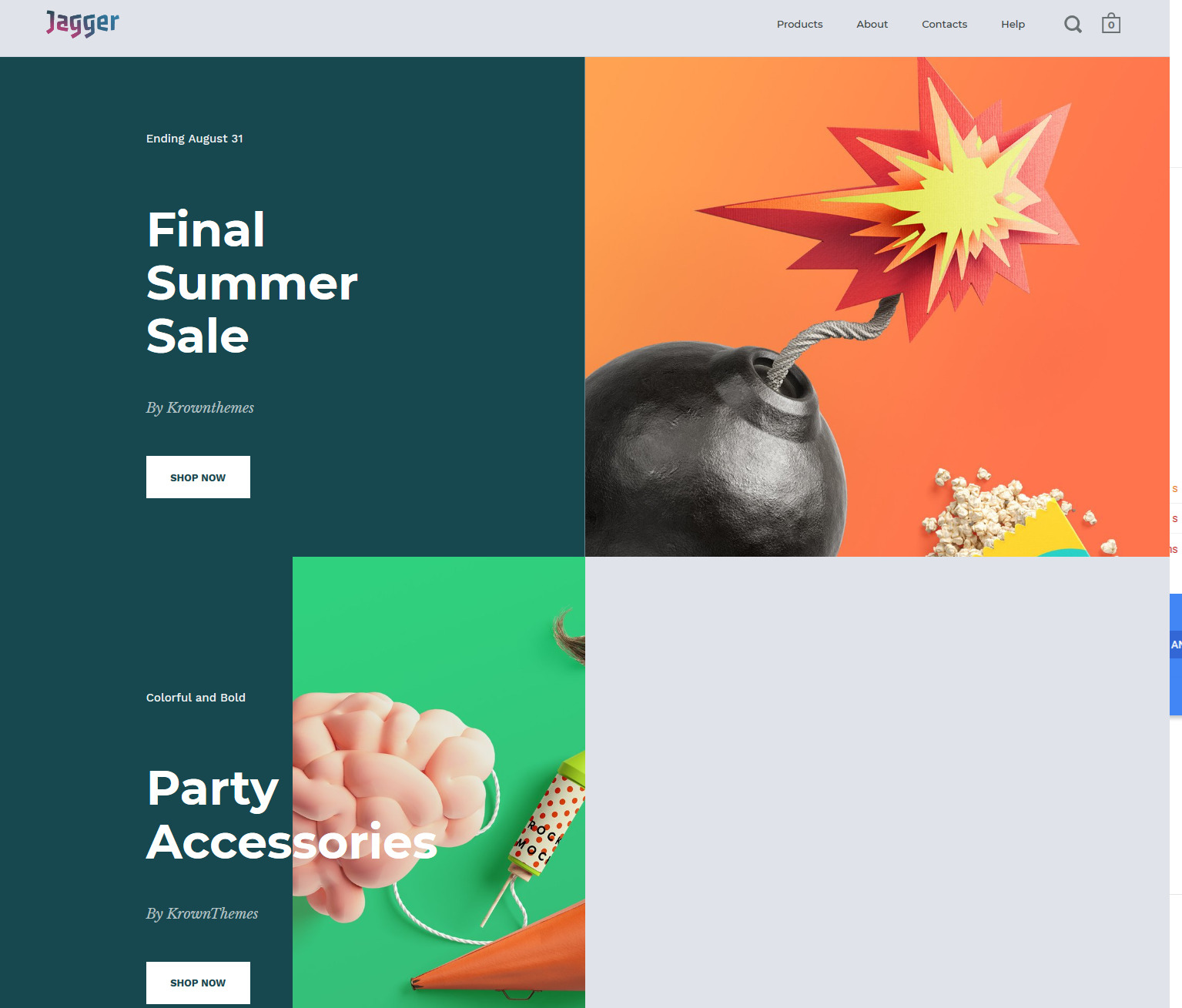 split is a great Shopify theme