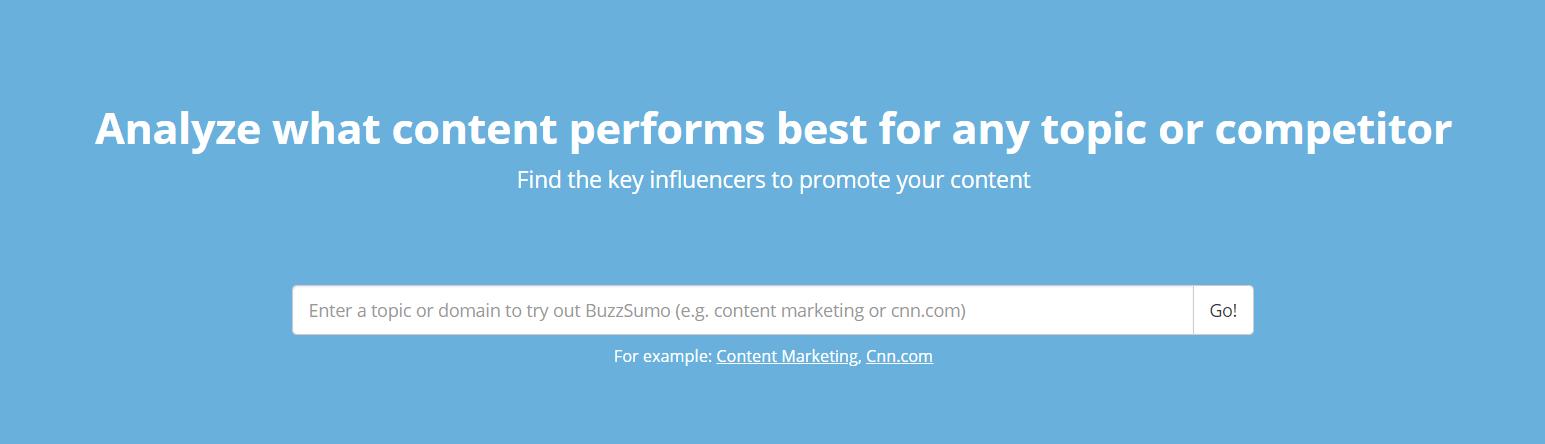 The BuzzSumo website.