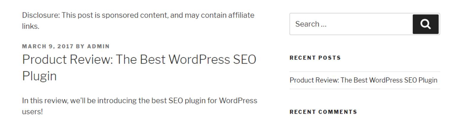 Exemple de champs personnalisés dans WordPress sur le front-end