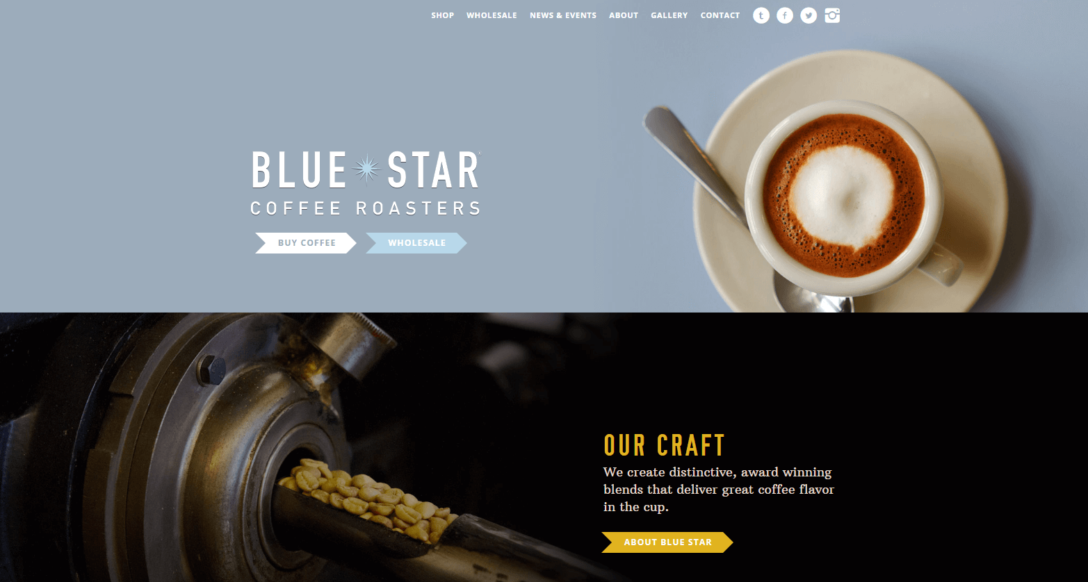 The Blue Star website.