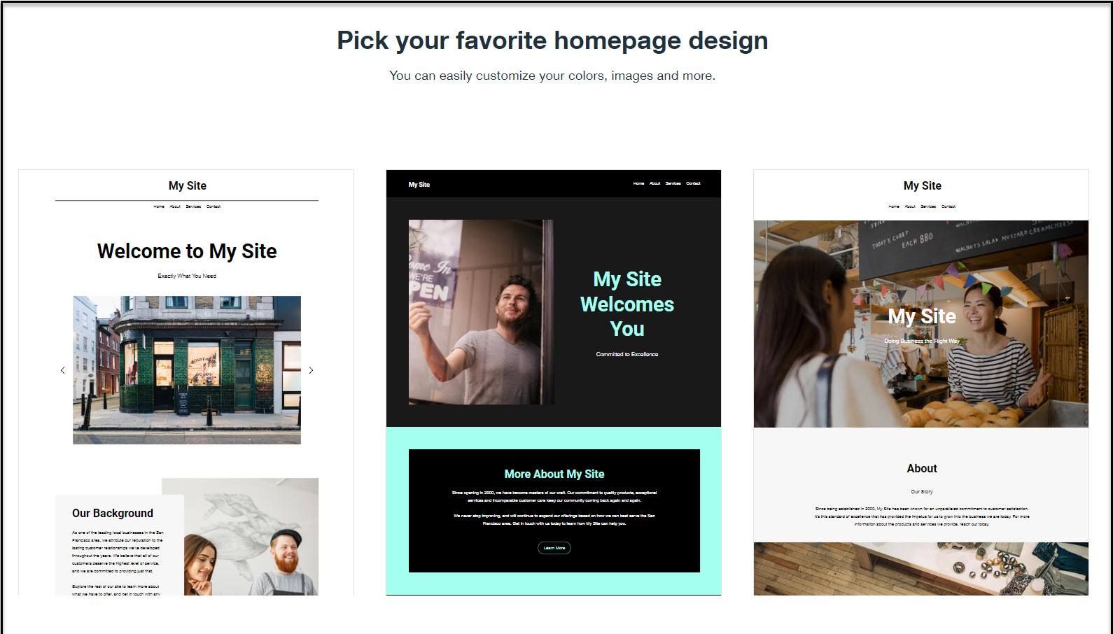 Wix ADI website templates