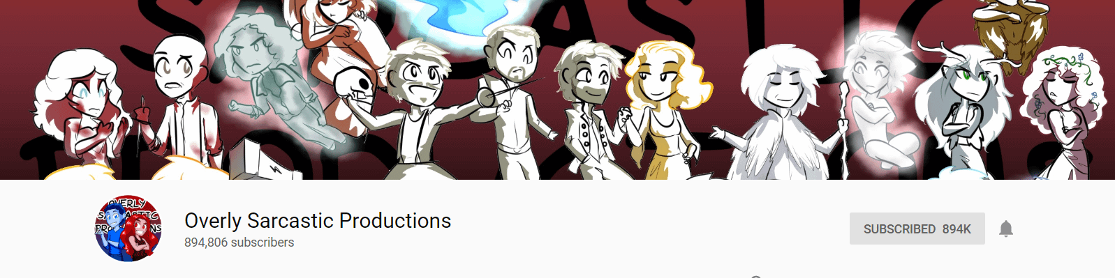 Best YouTube Banner Size: Example From Overly Sarcastic Productions