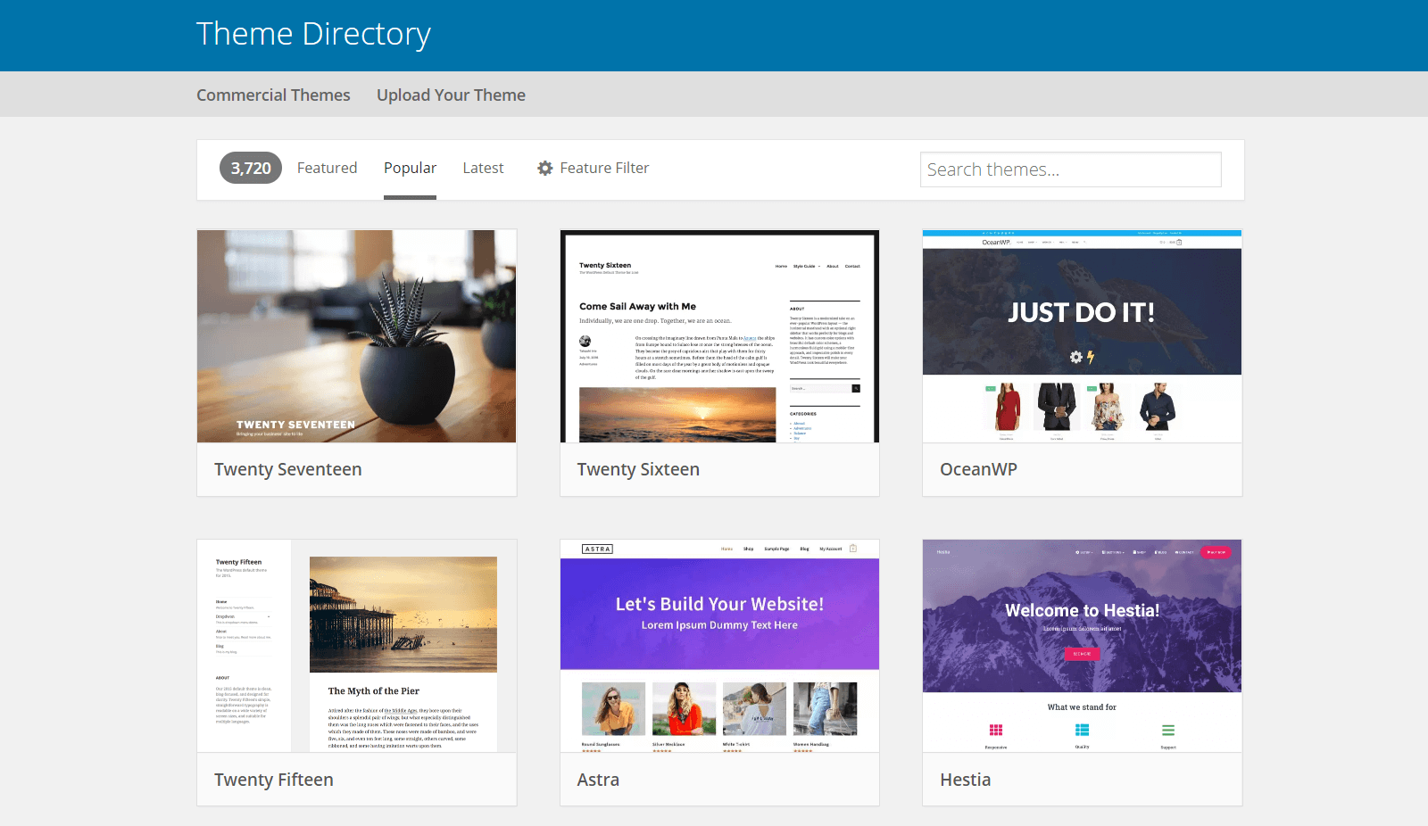 The WordPress Theme directory.
