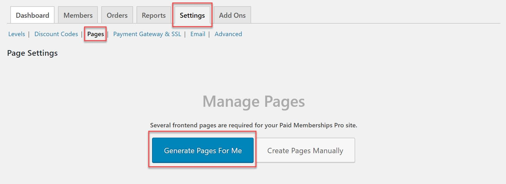 Generate Pages