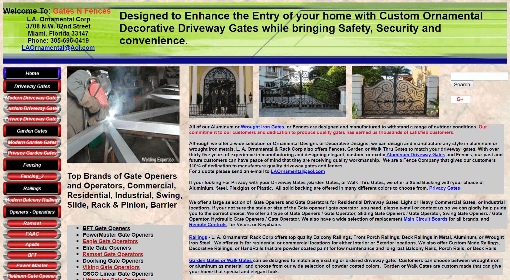 The Gates N Fences website.
